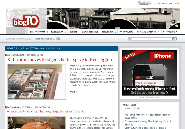 BlogTO Covers Our Big Move