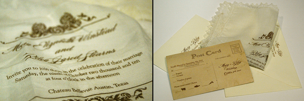Invitation-on-Vintage-Handkerchiefs-with-RSVP-printed-on-Vintage-Postcards2
