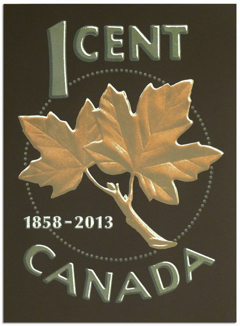 1 Cent Canada poster
