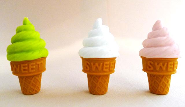 Mini Ice Cream Erasers at Kid Icarus