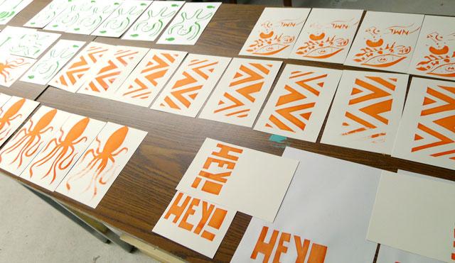 Screen Printing 101 at Kid Icarus