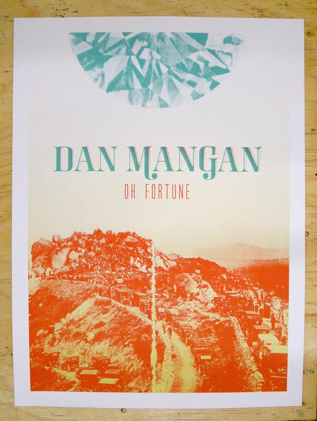 Dan Mangan Album Launch Poster