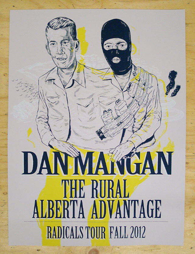 Dan Mangan Fall Tour Poster