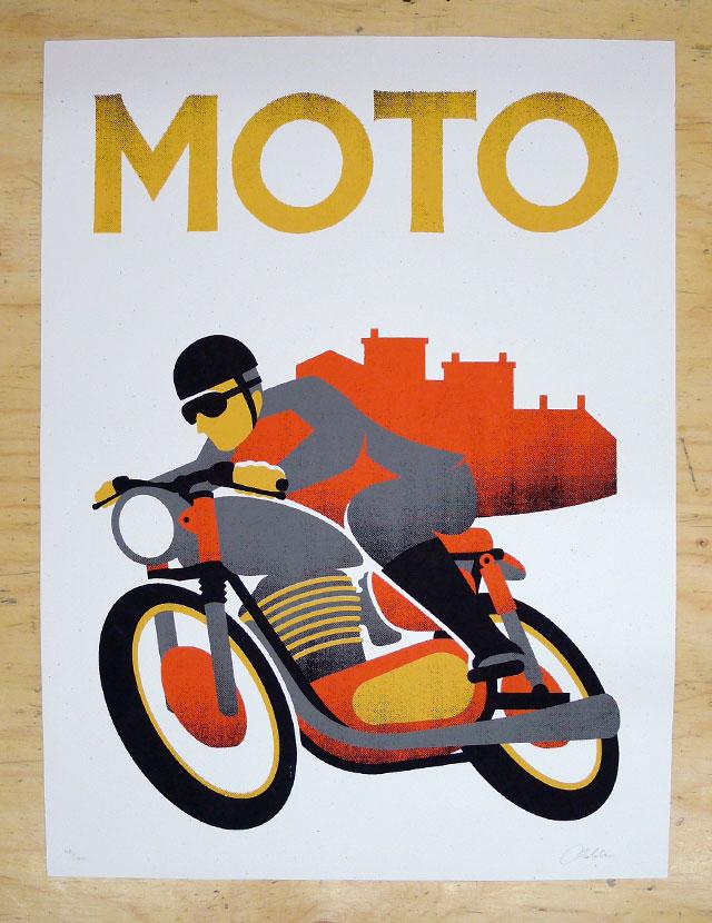 The Print Department: Doublenaut Moto Poster