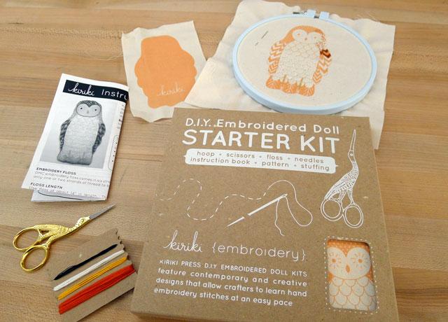 Kiriki Press Embroidery Kits at Kid Icarus