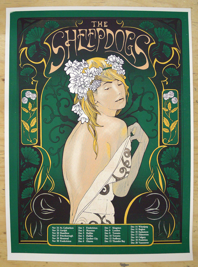 The Sheepdogs Tour Poster