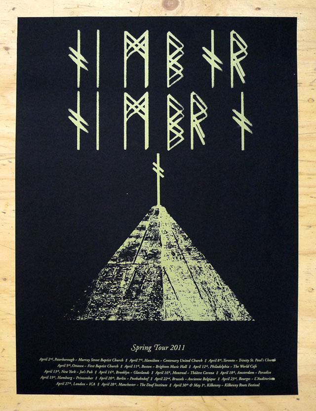 Timber Timbre Tour poster