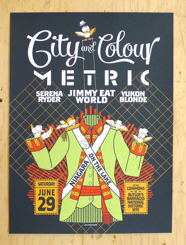 City and Colour Event Poster