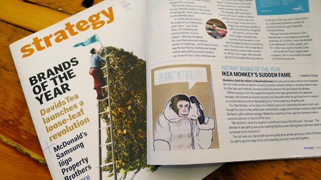 IKEA Monkey Greeting Card Spoted in Strategy Magazine
