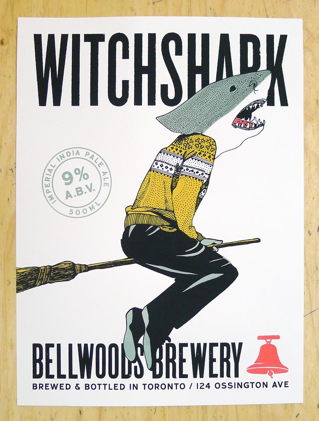 New Posters for Bellwoods Brewery: Witchshark