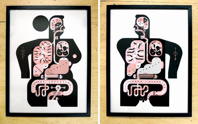 New Raymond Biesinger Anatomy Prints