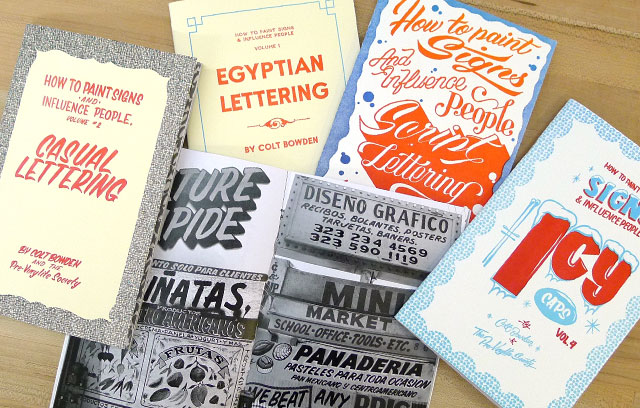 hand lettering books and zines