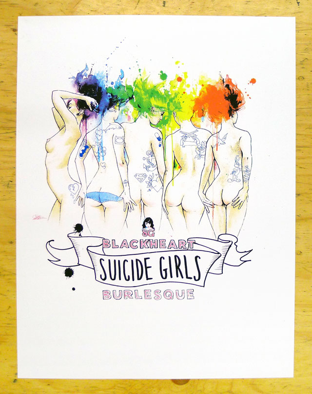 Suicide Girls Canadian Tour Poster
