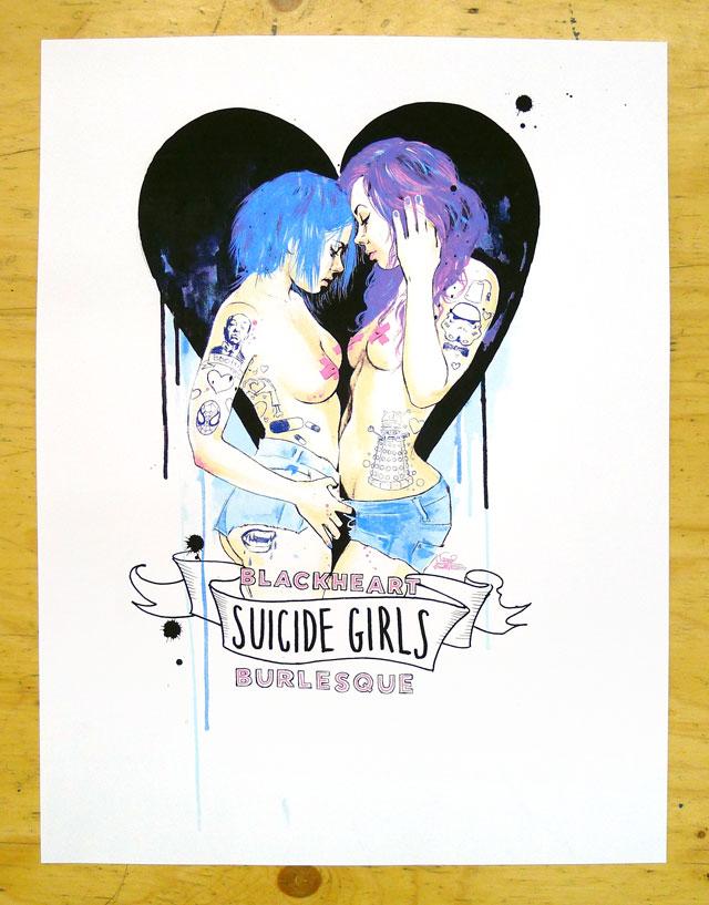 Suicide Girls Blackheart Burlesque Tour Poster