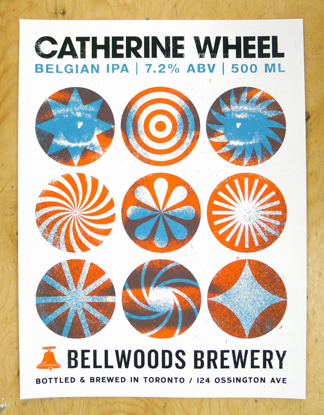 New Poster for Bellwoods Brewery: Catherine Wheel