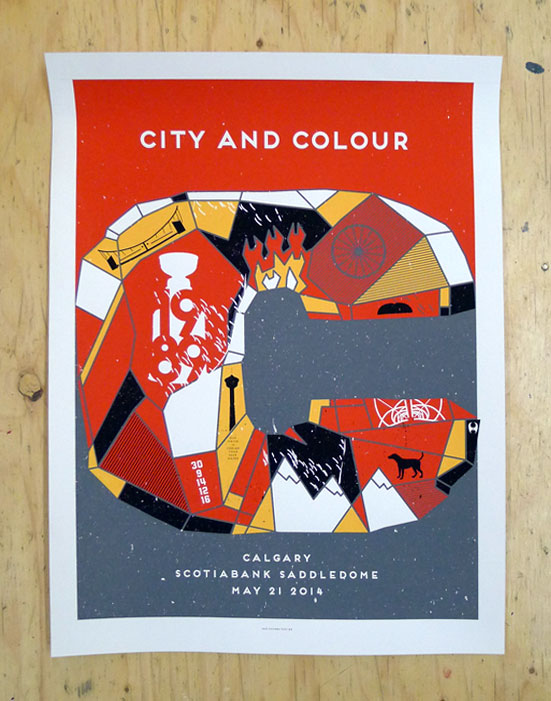 City and Colour's Calgary show poster