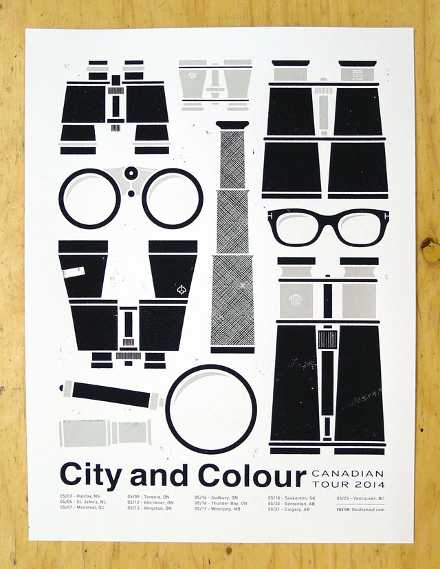 City and Colour Canadian Tour Poster