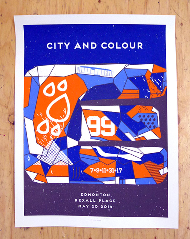 City and Colour's Edmonton Show Poster