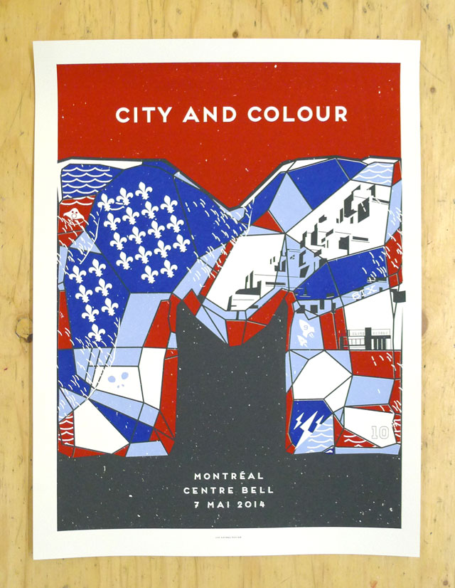 City and Colour's Montreal show Poster