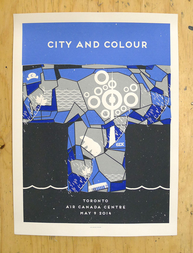 City and Colour's Toronto show poster