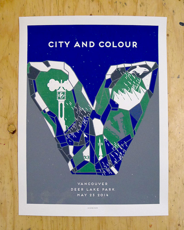 City and Colour's Vancouver show poster