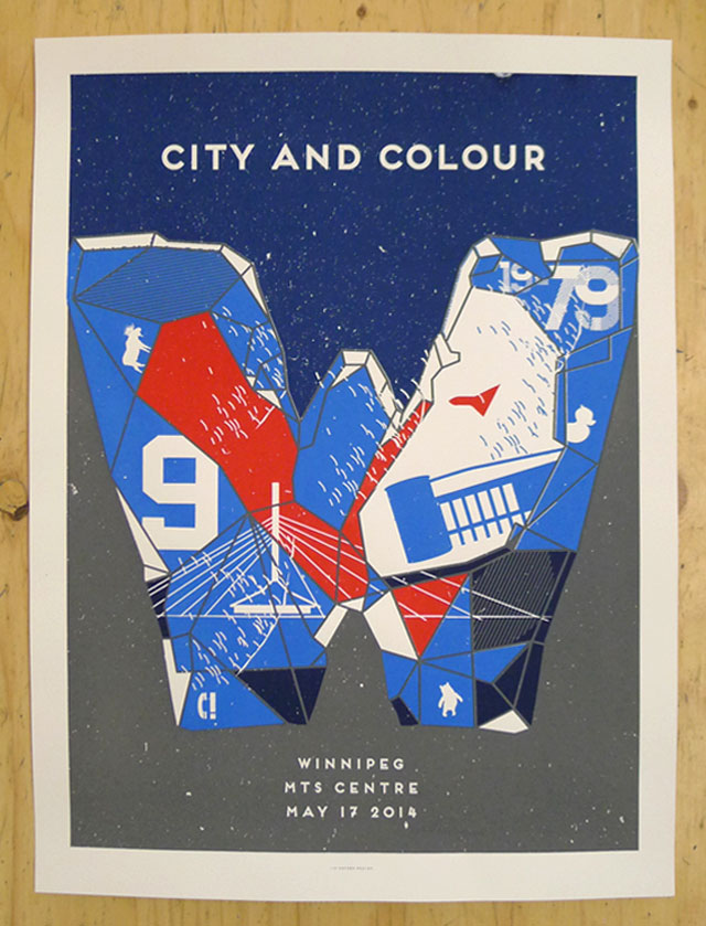City and Colour's Winnipeg show poster