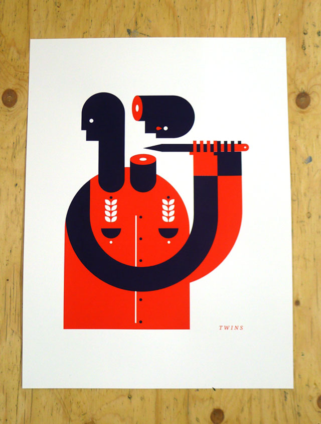 Celebrate sibling rivalry with Michael Brewer's 'Twins' print!