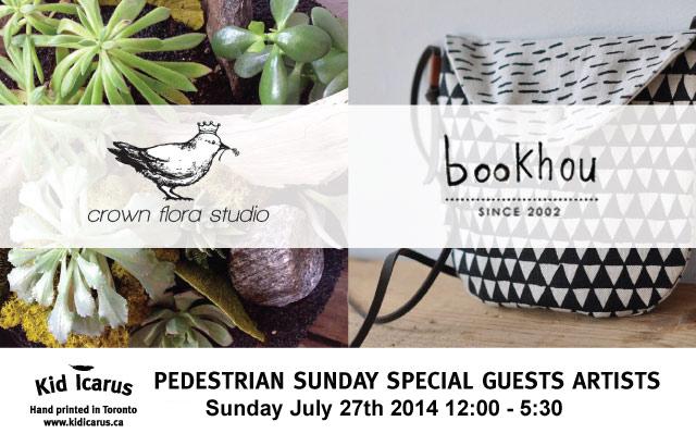 July's Pedestrian Sunday Guest Vendors!