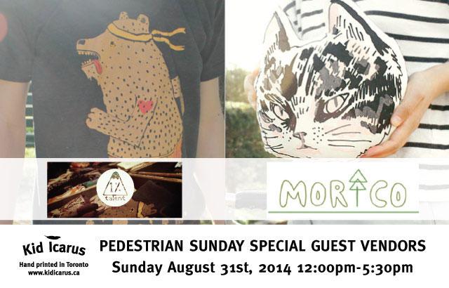 August's Pedestrian Sundays Guests Vendors!