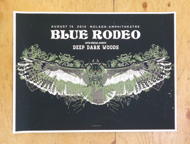 Blue Rodeo + Deep Dark Woods Poster