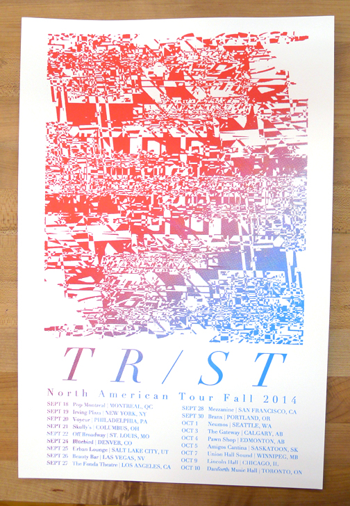 TR/ST North American Fall Tour 2014 Poster