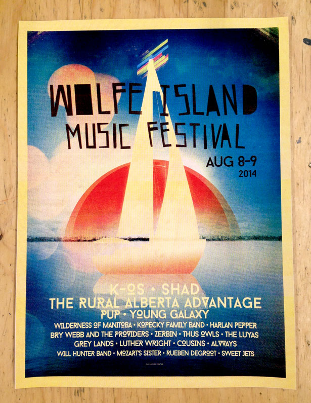 Wolfe Island Music Festival 2014 Poster