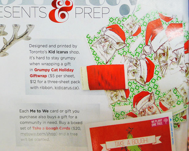 At a screen near you, our Grumpy Cat Holiday Giftwrap