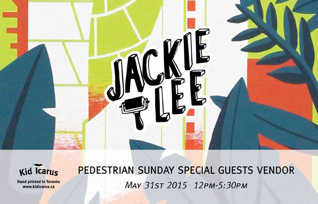 Pedestrian Sunday Pop-Up with Jackie Lee