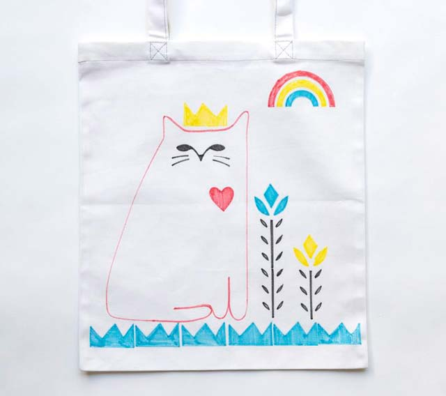 DIY Cat Tote Bags & Market Tea Towels!
