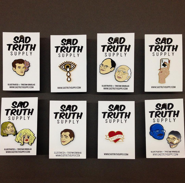 Pins from Sad Truth Supply!