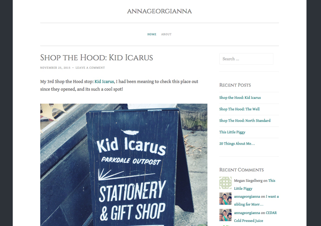 Annageorgianna Blog Post on Kid Icarus Parkdale