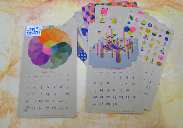 Isometric Risograph Calendars!