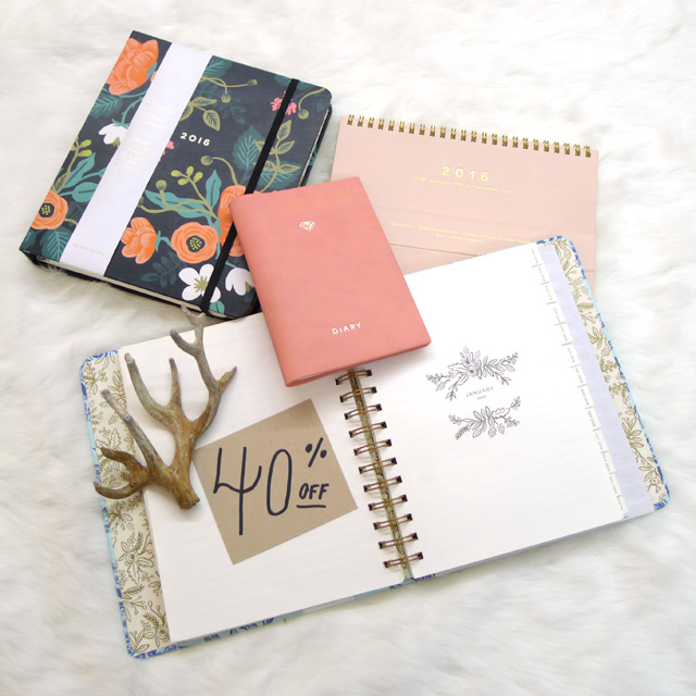 2016 Planners and Calendars – 40% off!!!