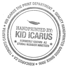 kid icarus handprinted stamp