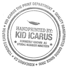 kid icarus hand printed stamp