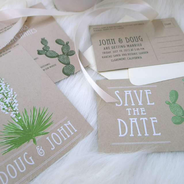 Screen Printed Wedding Invites by Kid Icarus!
