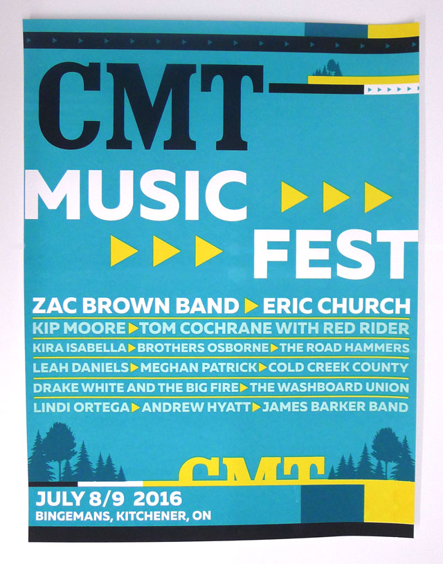 Posters for CMT Music Fest