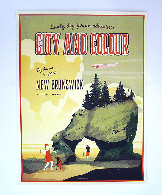 city colour nova scotia new brunswick tour posters kid icarus. Black Bedroom Furniture Sets. Home Design Ideas