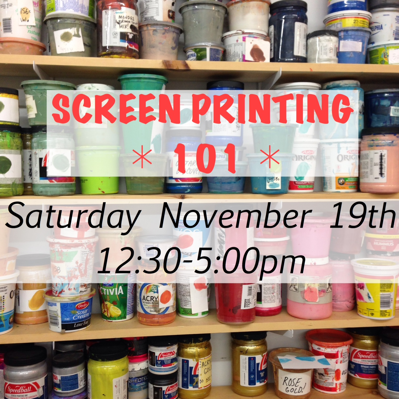 Learn to Screen Print This Saturday!