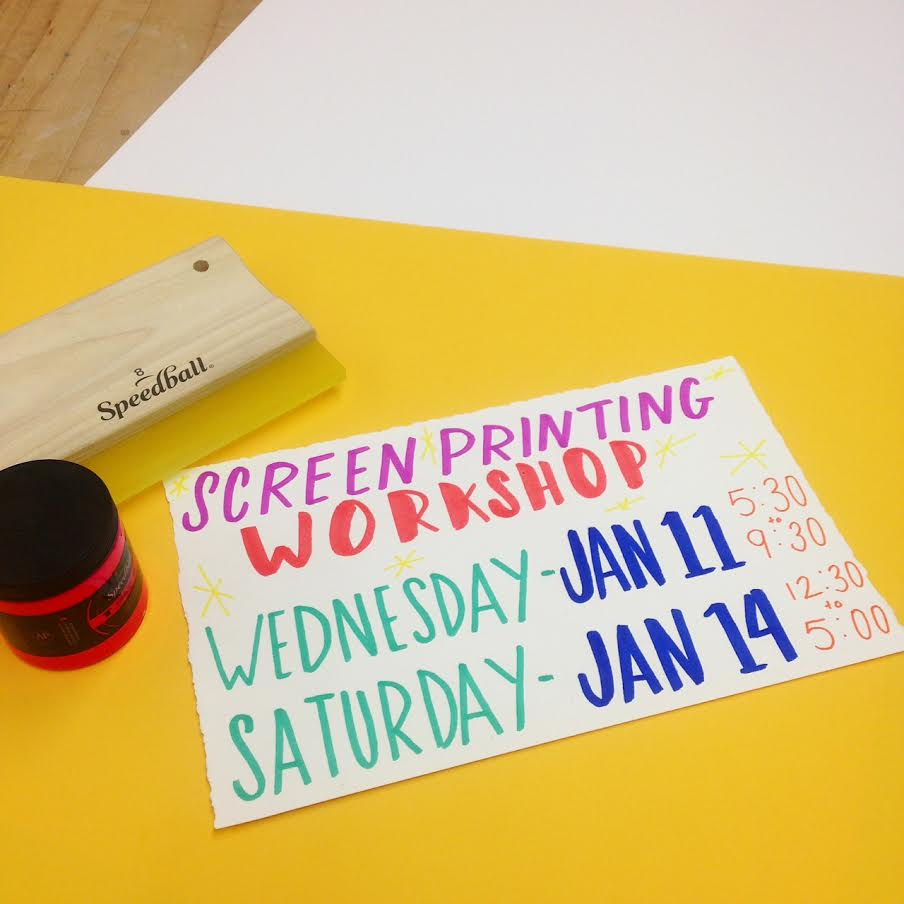 Learn to Screen Print in the New Year!
