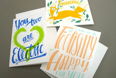 New Letterpress'd Cards from Backyard Press!