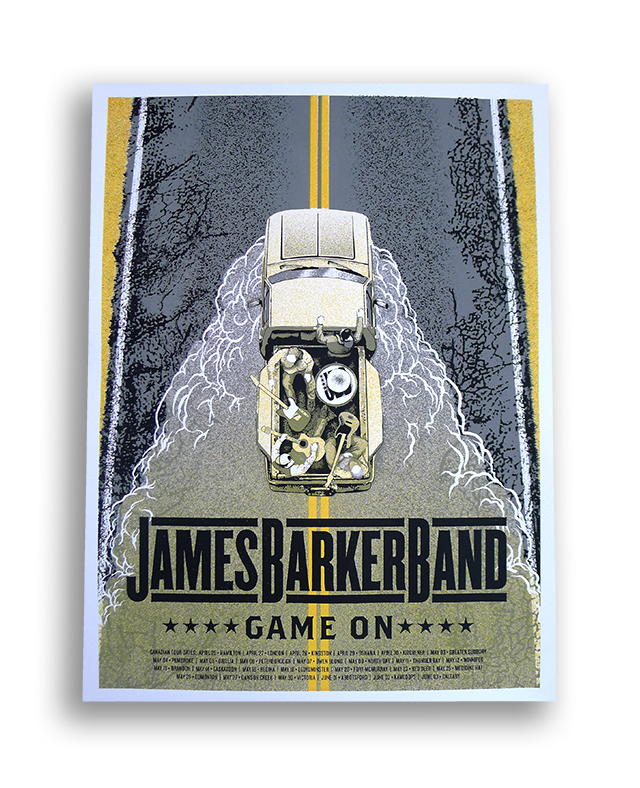 Posters Designed & Printed by Kid Icarus for James Barker Band