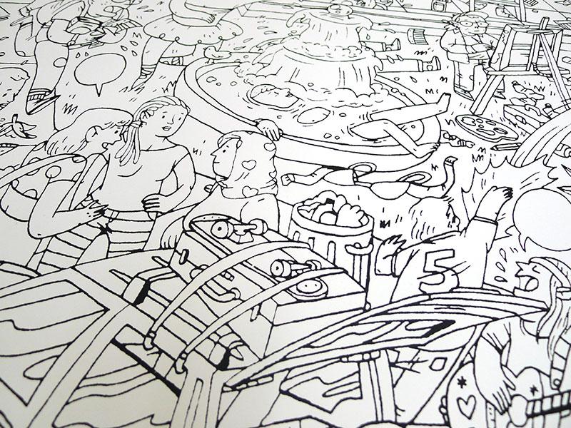 We Printed Some Super Detailed Large Format Prints For Illustrator Eric Moller