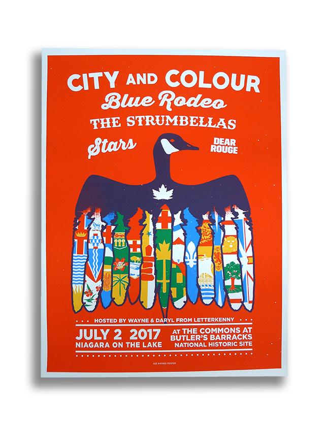 Posters for City & Colour's Niagara Show!
